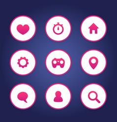 basic web icons set vector image