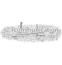 Be an effective communicator vector