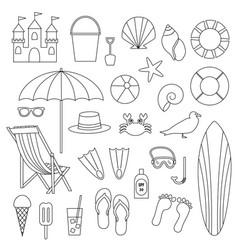 beach digital stamps vector image