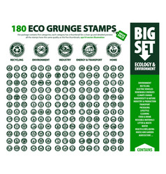 big set 180 eco stamps vector image