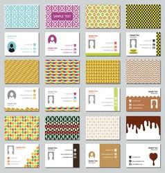 Big set of businessman card resize vector image