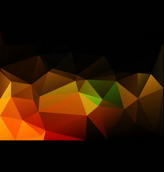 Black brown yellow green low poly background vector