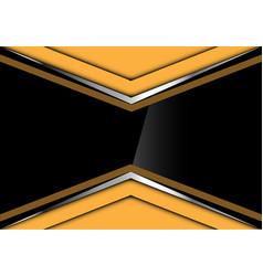 black glossy in yellow silver arrow design vector image