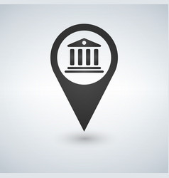 black map pointer bank icon iluustrationisolated vector image