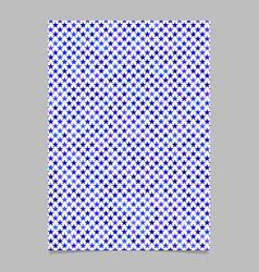 Blue pentagram star shape pattern background vector