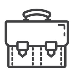 briefcase line icon business and portfolio vector image