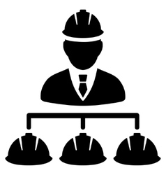 Builder Management Flat Icon vector