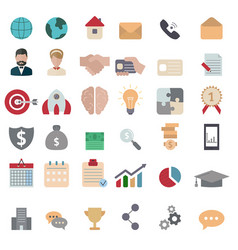 Business icon set business icon set vector