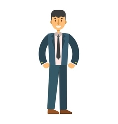 Business man silhouette vector image
