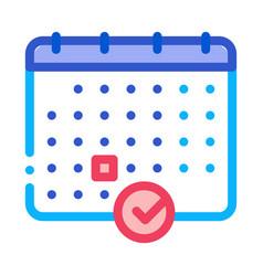 calendar icon outline vector image