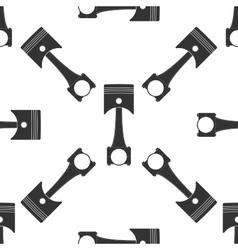 Car engine piston icon pattern vector image