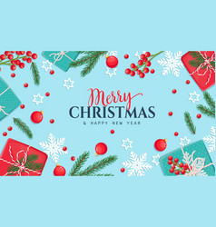 christmas background with gifts box vector image