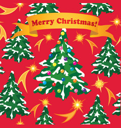Christmas greeting card happy winter holiday fir vector