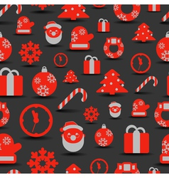Christmas silhouettes seamless background vector image