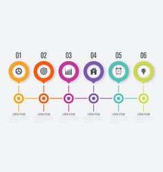 circle infographic with 5 options vector image