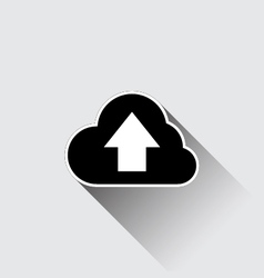 Cloud upload application web icon vector image