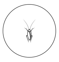 cockroach icon black color in circle vector image