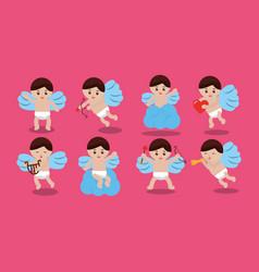 cupid love romantic lovely cute set vector image