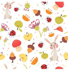 Cute autumn seamless pattern vector