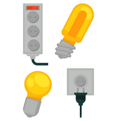 Electrical devices in colors poster vector