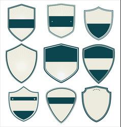 empty retro shield collection vector image