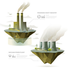 Factory and power plant vector