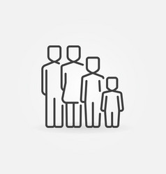 family concept icon vector image