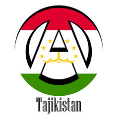 flag of tajikistan of the world in the form of a vector image