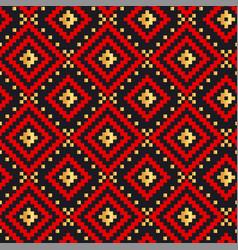 folk ornament color seamless pattern vector image