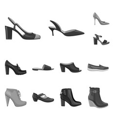 footwear and woman sign vector image