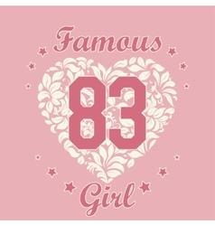 Girl t-shirt design vector
