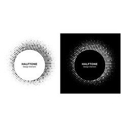 halftone circle frame emblem design element vector image