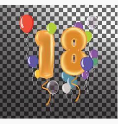 Happy birthday eighteen year fun celebration vector