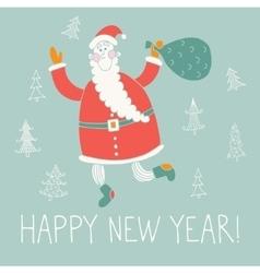 happy new year hand drawn vector image