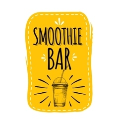 Healthy menu smoothie bar vector