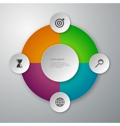 infographics paper circles vector image