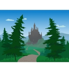 Landscape With Castle vector image
