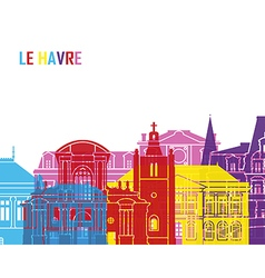 Le Havre skyline pop vector image