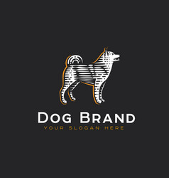 logotype dog vector image