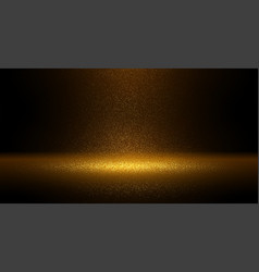 luxury gold glitter particles on black background vector image