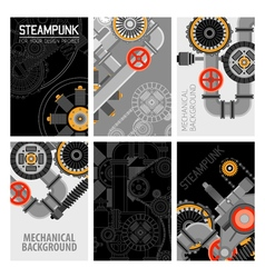Machinery Parts Brochures Design vector image