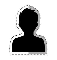 male profile silhouette icon vector image