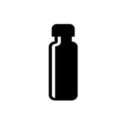 Medicine bottle silhouette icon medication kit vector
