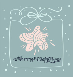 merry christmas calligraphic text christmas vector image
