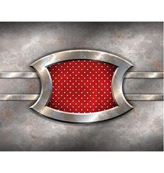 Metal frame with polka dot background vector image
