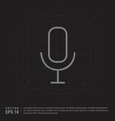 microphone icon - black creative background vector image
