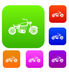 Motorcycle set collection vector