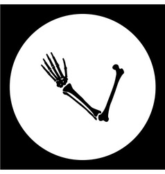 One human hand from bones black icon eps10 vector