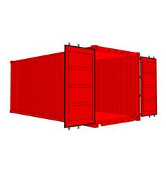 Open cargo container vector