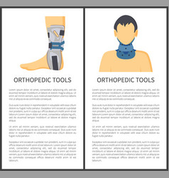 orthopedic tools posters set vector image